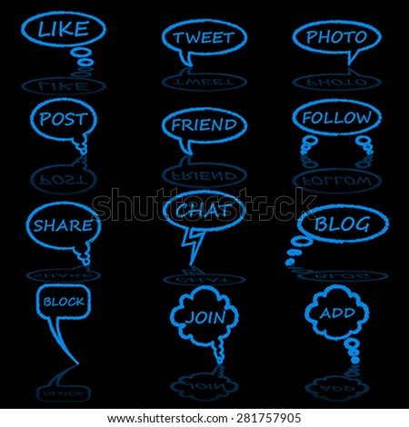 Bubble chat, vector - stock vector