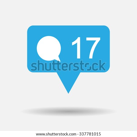 bubble comment icon vector illustration - stock vector