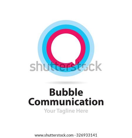 Bubble Communication Logo - stock vector