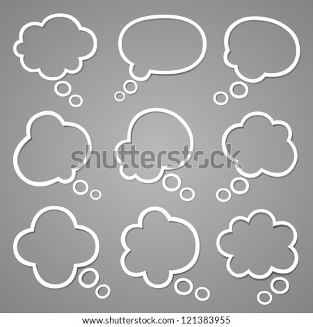 Bubble for speech set - stock vector