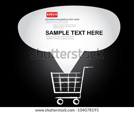 Bubble for text, business,Vector - stock vector