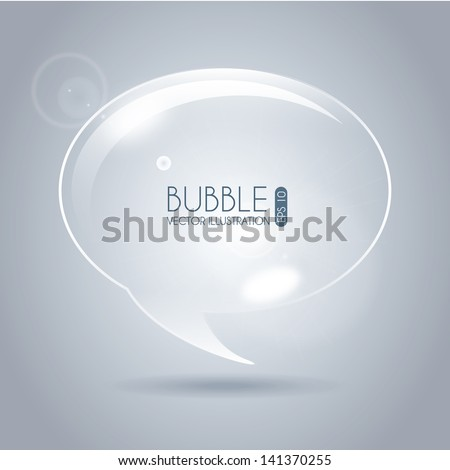 bubble icon oval over gray background vector illustration - stock vector