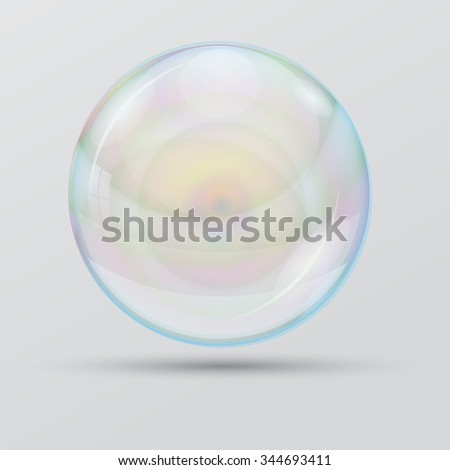 Bubble on a white background. Individual objects. Vector droplet.Soapbubble