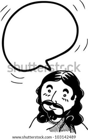 bubble speech from Jesus - stock vector