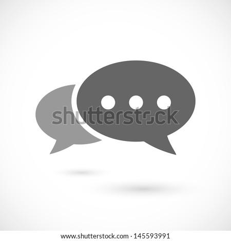 Bubble speech icon - stock vector