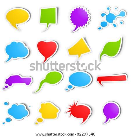 Bubble speech stickers - stock vector
