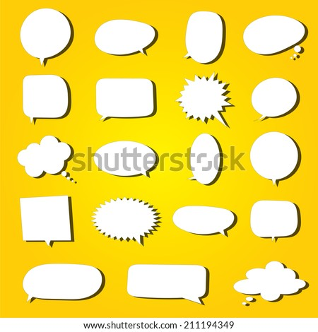 bubble talk set - stock vector