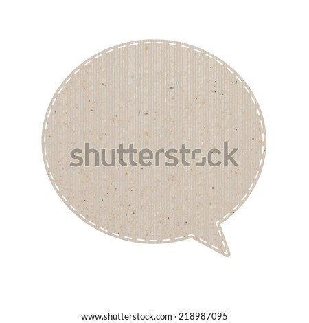 bubble talk tag recycled paper. paths inside, vector illustration    - stock vector