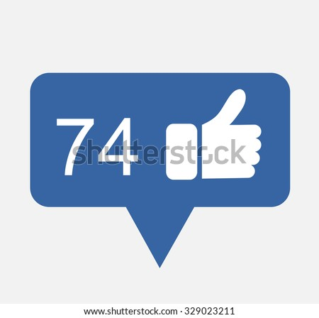 bubble vector illustration eps 10 counter notification template like  facebook blog image - stock vector
