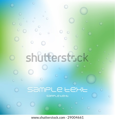 Bubbles background - stock vector