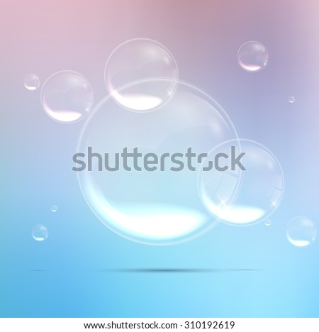 Bubbles background in the water. Vector