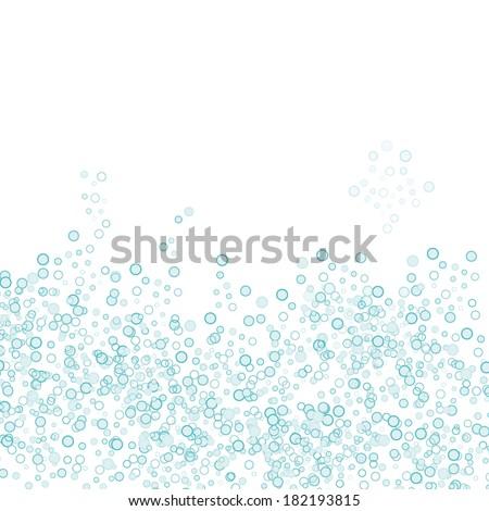 Bubbles background, vector illustration - stock vector