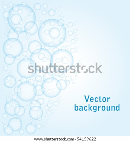 Bubbles background. Vector illustration. - stock vector