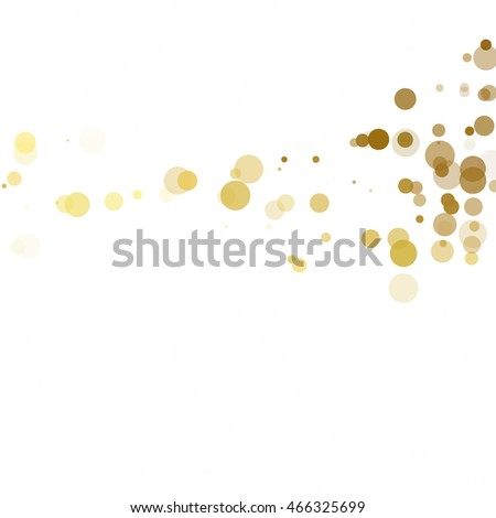 Bubbles Circle Dots Unique Yellow Bright Vector Background