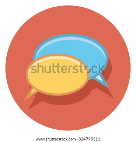 bubbles flat icon in circle - stock vector