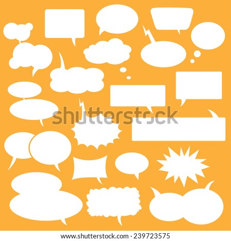 Bubbles for communication, for comics and other. - stock vector