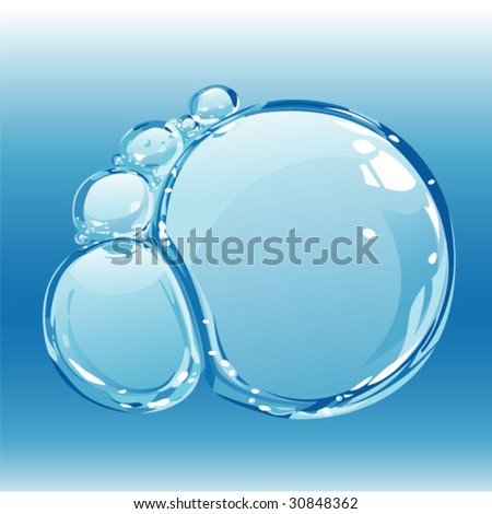 bubbles on the watersurface - stock vector