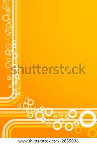 Bubbles over colored lines - background (vector, illustration) - stock vector