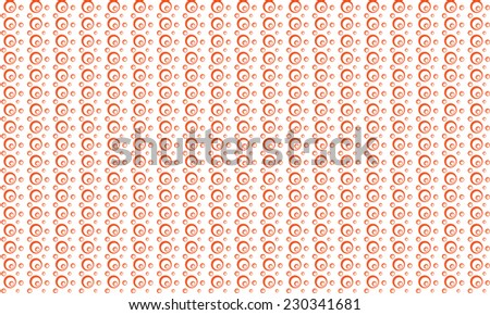 bubbles pattern background - orange - stock vector
