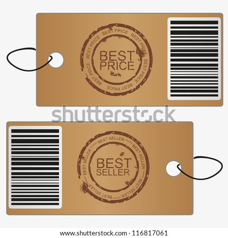 Bubbles, stickers, labels, tags.Stamp best rice and best seller. Vector template - stock vector