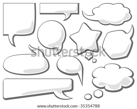Bubbles With Space For Text Vector - stock vector