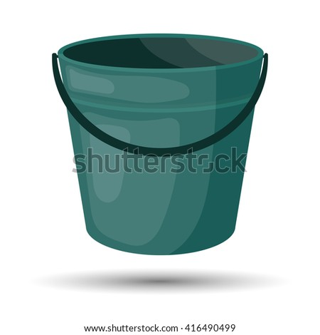 Bucket colorful icon