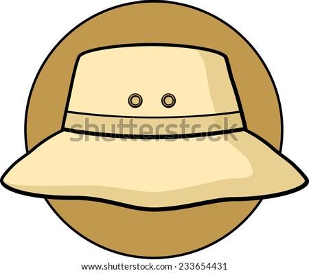 bucket hat stock vector 233654431 shutterstock rh shutterstock com Fishing Hat Clip Art Fishing Hat Clip Art
