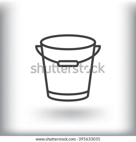 bucket icon, bucket icon eps 10, bucket icon vector, bucket icon illustration, bucket icon  jpg, bucket icon picture, bucket icon flat, bucket icon design,bucket icon web, bucket icon art, bucket JPG - stock vector
