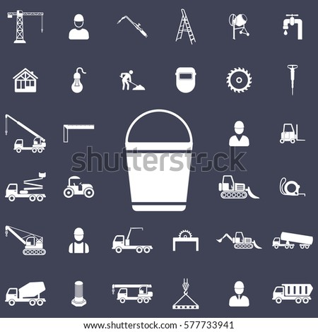 Bucket icon. Construction icons universal set for web and mobile