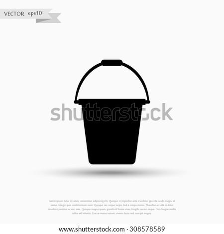 bucket icon vector - stock vector