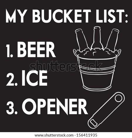 bucket list - stock vector