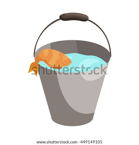 Fishing pail stock images royalty free images vectors for Bucket of fish