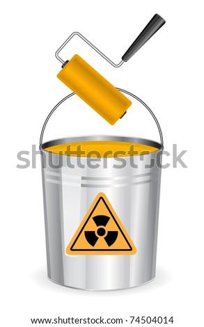 buckrt nuclear sign - stock vector