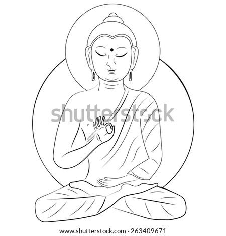 Buddha  - stock vector