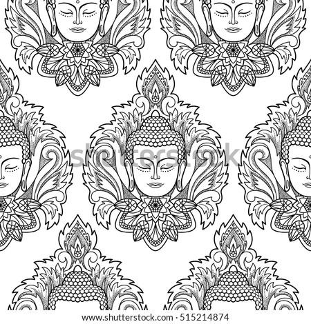 Buddha Black And White Wallpaper