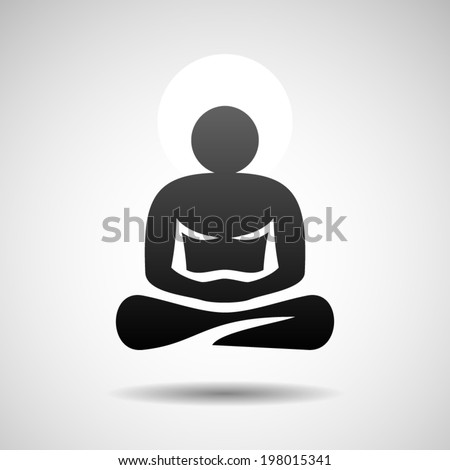 Buddha icon. Eps10 - stock vector