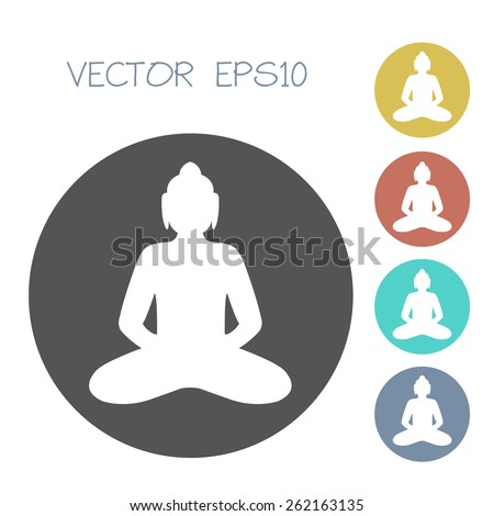 Buddha icon set. vector illustration - stock vector