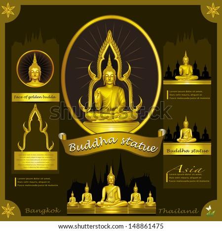 Buddha Statue.infographic - stock vector