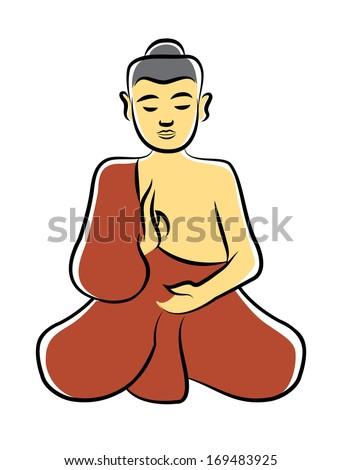 Buddha symbol illustration - stock vector