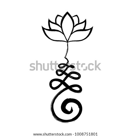 Buddhist symbol unalome lotus flower stock vector royalty free buddhist symbol unalome with lotus flower mightylinksfo