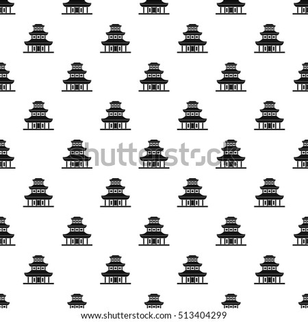Buddhist temple pattern. Simple illustration of buddhist temple vector pattern for web