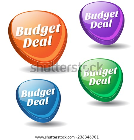 Budget Deal Colorful Vector Icon Design