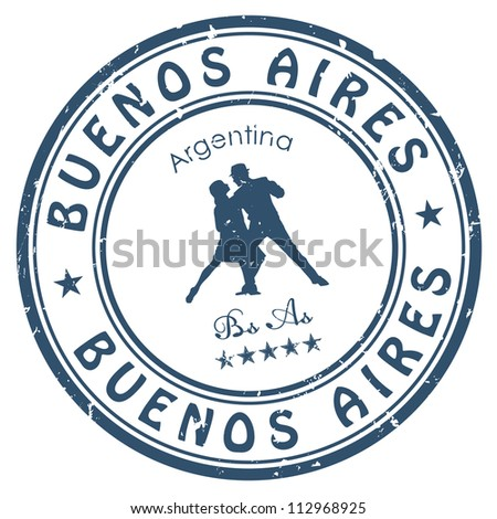 Buenos Aires stamp - stock vector
