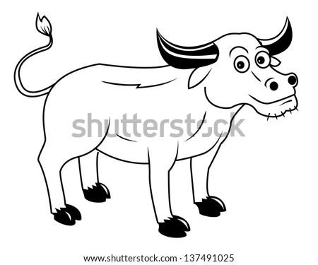 buffalo - stock vector