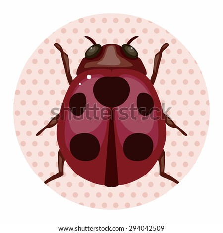 bug cartoon elements - stock vector