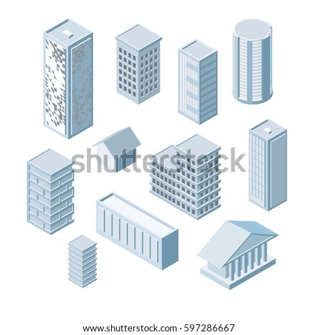 Build Your Own Isometric City Vector Stock Photo (Photo, Vector ...