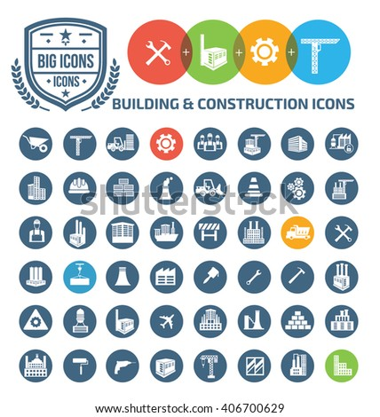 Building and construction icons,vector - stock vector