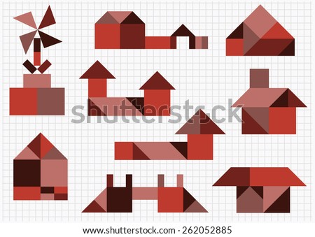 building and construction on a white background