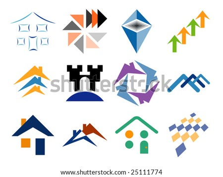 Building and Home Themed Vector Design Elements - stock vector