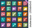 Building and tools icons - stock